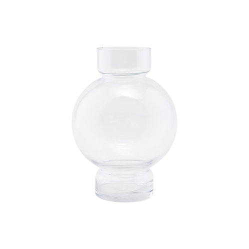 Vase Bubble Tief, clear