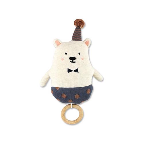 Strickspieluhr Eisbär