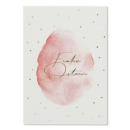 Postkarte Froh Ostern Pink