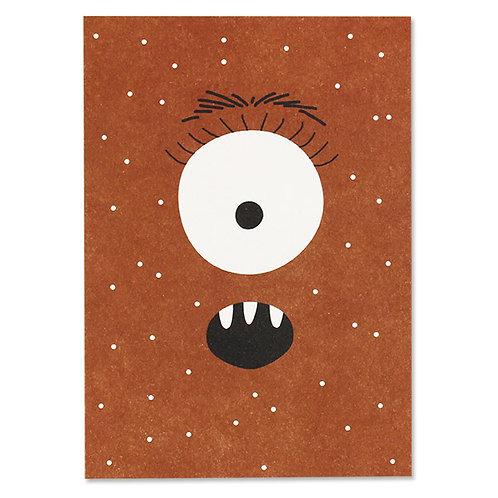 Postkarte Monster