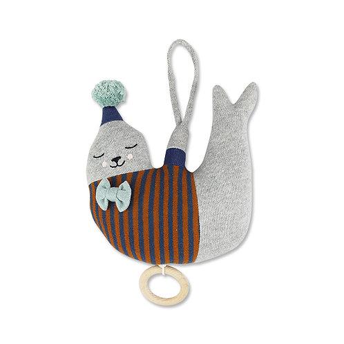Strickspieluhr Seehund