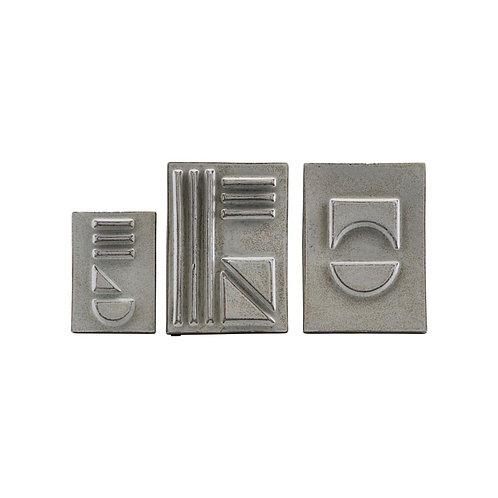 Relief, Geometrie 02, 3er Set
