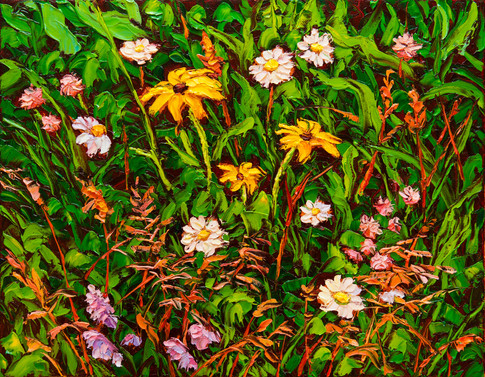 Wildflower Medley (oil, 11x14 in, Sold)