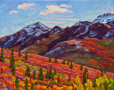 Autumn Scenic, Tombstone Territorial Park, Yukon (oil, 11x14 in)