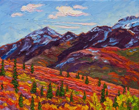 Autumn Scenic, Tombstone Territorial Park, Yukon (oil, 11x14 in)