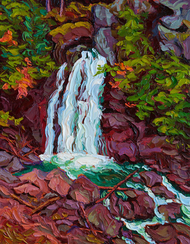 Lady Falls, Strathcona Park (oil, 11x14 in)