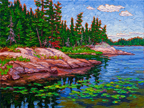 Oasis (oil, 12x16 in, sold)