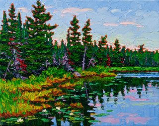 Shoreline, Lake of the Woods (oil, 11x14 in)