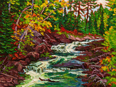 Lower Rapids (oil, 12x16 in, Sold)