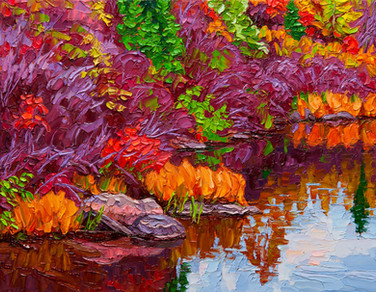 Cascading Colours, Tunnel Island (oil, 11x14 in)