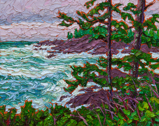 Wild Pacific (oil on cradled birch panel, 8x10 in)