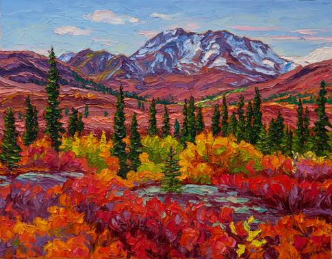 Autumn Vista, Tombstone (oil, 11x14 in)