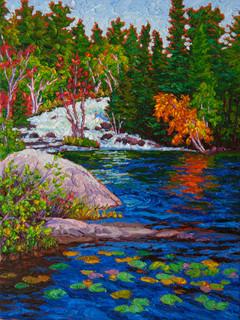 Below the Rapids, Rushing River (oil, 12x16 in)