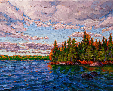 Windy Day, Silver Lake (oil, 11x14 in, Sold)