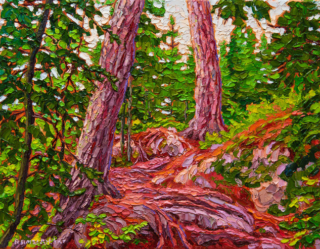 Rocky Trail, Tunnel Island (oil, 11x14 in)