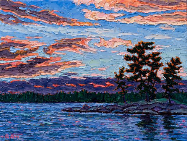 Evening Sky (oil, 12x16 in)