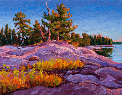 Island Sunset (oil, 11x14 in, Sold)