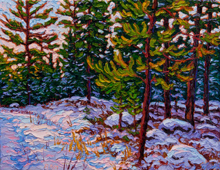 A Late Winter's Day Among the Jack Pines (oil, 11x14 in)