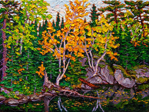Hidden Bay, Lake of the Woods (oil, 12x16 in, Sold)