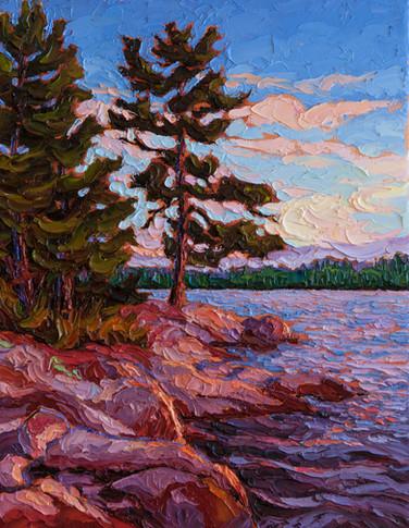 River Shoreline (oil, 11x14 in)