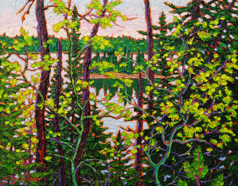 Glimpse of Spring (oil, 11x14 in, Sold)