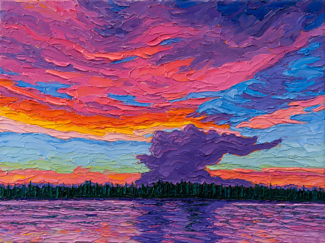 Sunset Thunderhead (oil, 12x16 in)