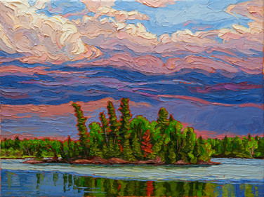 Approaching Storm (oil, 12x16 in, Sold)