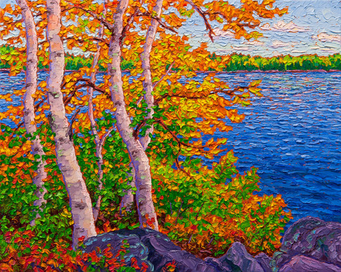 Autumn Magic (oil, 16x20 in, Sold)