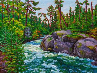 Rusing River, Ontario (oil, 12x16 in)