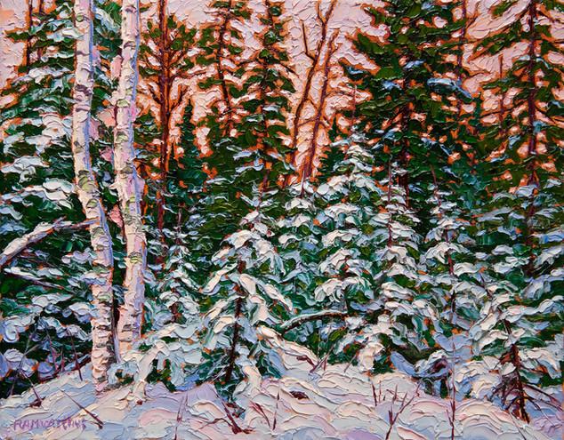 Snowy Woods (oil, 11x14 in, Sold)