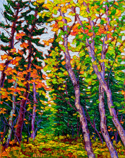 Forest Walk (oil, 11x14 in)