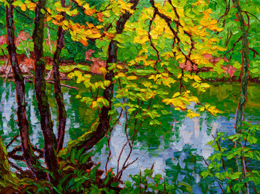 Autumn Veil, Campbell River (oil, 12x16 in, Sold)