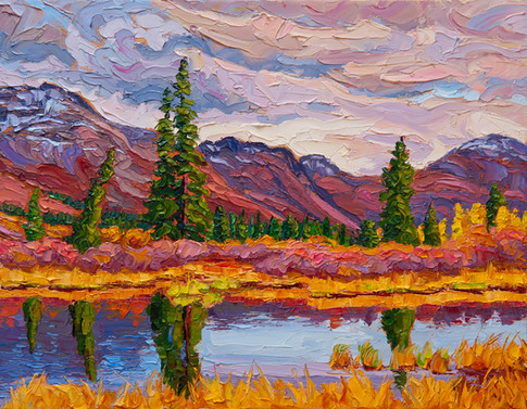 Northern Pond, Yukon (oil, 11x14 in)