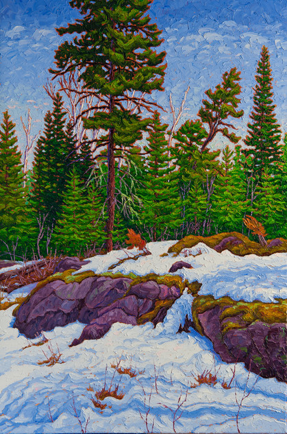 Signs of Spring (oil, 24x36 in, Sold)