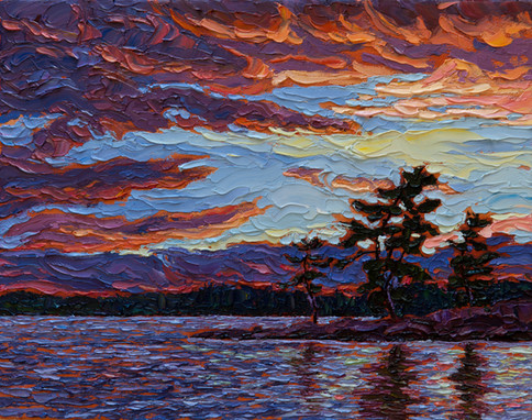 Clearing Skies (oil, 11x14 in, Sold)