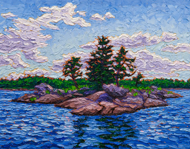 Rocky Isle (oil, 11x14 in, Sold)