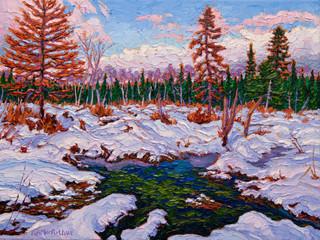 Beaver Pond (oil, 12x16 in, Sold)