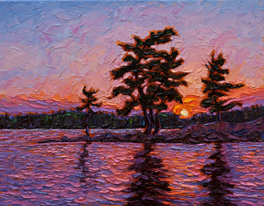 Summer Sunset (oil, 11x14 in, sold)