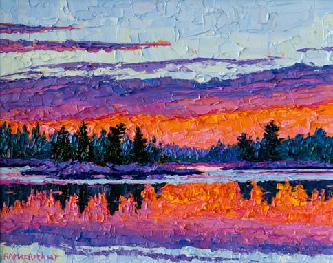 Morning Light (oil, 12x16 in, Sold)