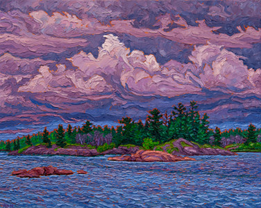 Darkening Skies (oil, 16x20 in, Sold)