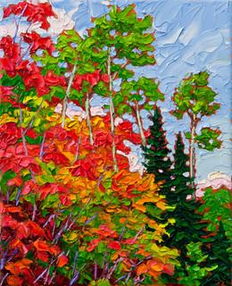 Autumn Harmony (oil, 8x10 in)