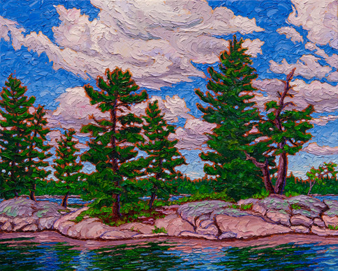 Island Pines (oil, 16x20 in, sold)