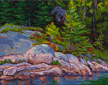 River Shoreline (oil, 11x14 in, Sold)