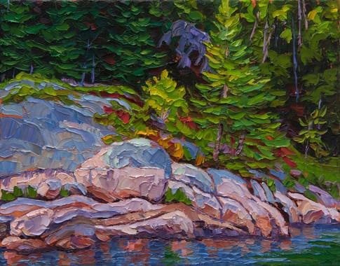 River Shoreline (oil, 11x14 in, Sold)