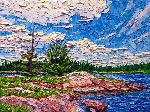 Summer Clouds (oil, 12x16 in, Sold)