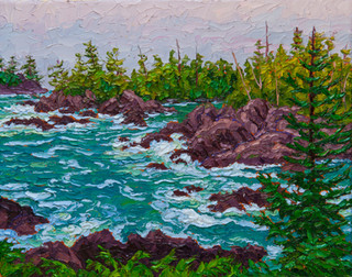 Ebb and Flow, Ucluelet (oil, 11x14 in)