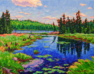 Northern Lake (oil, 11x14 in, Sold)