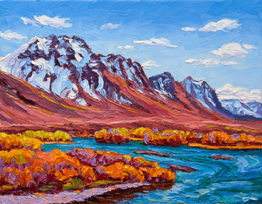Blackstone River, Yukon (oil, 11x14 in, Sold)