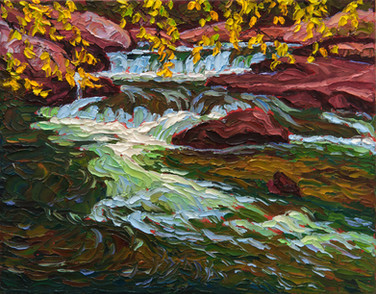Shaded Pool (oil, 11x14 in, Sold)