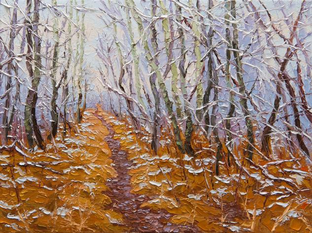 Dusting of Snow (oil, 12x16 in)